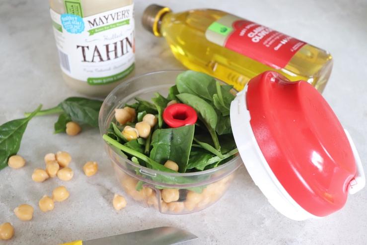 Spinach hommus